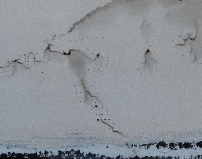 """Camille COUTURIER """"Encre n°1"""" encre de Chine sur papier marouflé sur bois 19 cm x 24 cm 190 €"""