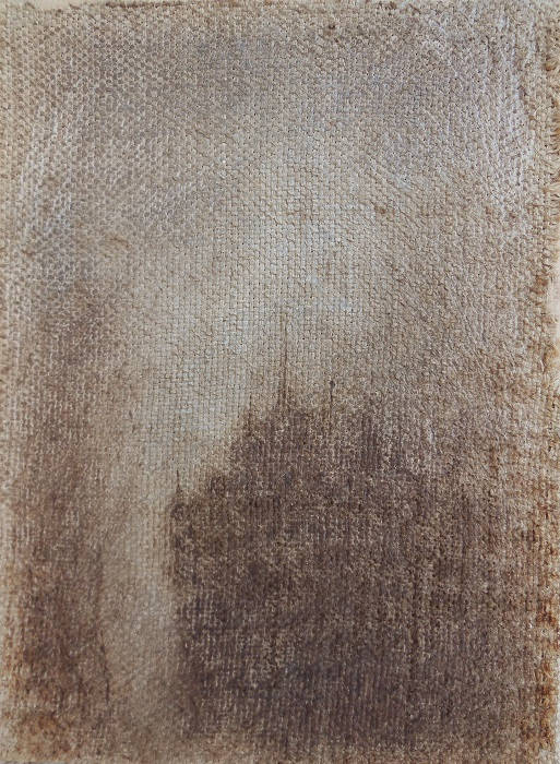 """Christian RONCERAY """"Il était une fois... XXXII"""" technique mixte sur toile 22 cm x 30 cm 230 €"""