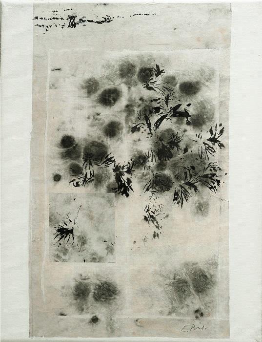"""Elisabeth POIRET """"Sans titre n°6"""" technique mixte sur toile 24 cm x 30 cm 250 €"""
