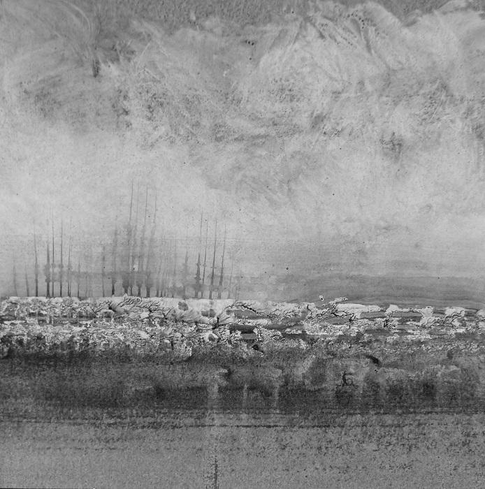 """Camille COUTURIER """"Encre n°9"""" encre de Chine sur papier marouflé sur bois 30 cm x 30 cm 300 €"""