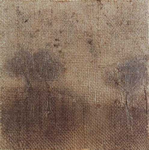 """Christian RONCERAY """"Par les chemins... I"""" technique mixte sur toile 20 cm x 20 cm 200 €"""