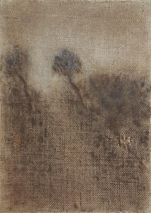 """Christian RONCERAY """"Par les chemins... X"""" technique mixte sur toile 24 cm x 33 cm 260 €"""