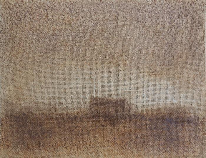 """Christian RONCERAY """"Paysage-Mémoire LI"""" technique mixte sur bois 35 cm x 27 cm 310 €"""