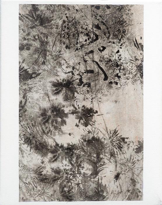 """Elisabeth POIRET """"Sans titre n°3"""" technique mixte sur toile 24 cm x 30 cm 250 €"""