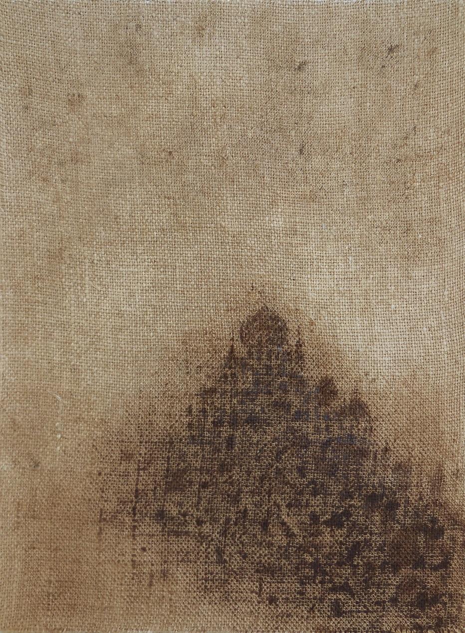 """Christian RONCERAY """"Par les chemins... XXII"""" technique mixte sur toile 30 cm x 40 cm 400 €"""