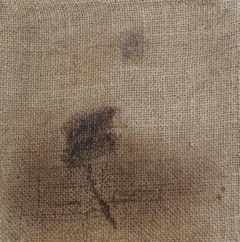 """Christian RONCERAY """"Par les chemins... VII"""" technique mixte sur toile 20 cm x 20 cm 200 €"""