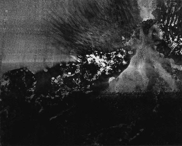 """Camille COUTURIER """"Encre n°14"""" encre de Chine sur papier marouflé sur bois 19 cm x 24 cm 190 €"""