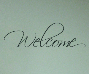 Welcome wall art sticker