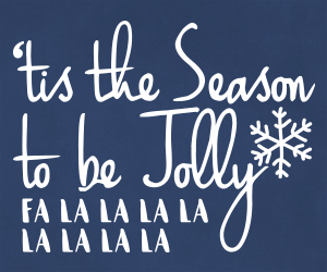 'tis the Season to be Jolly vinyl wall art