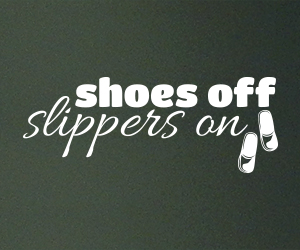 Shoes Off Slippers On wall art sticker