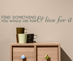 Find Something You Would Die For And Live For It sticker