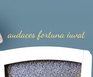 Audaces Fortuna Iuvat sticker