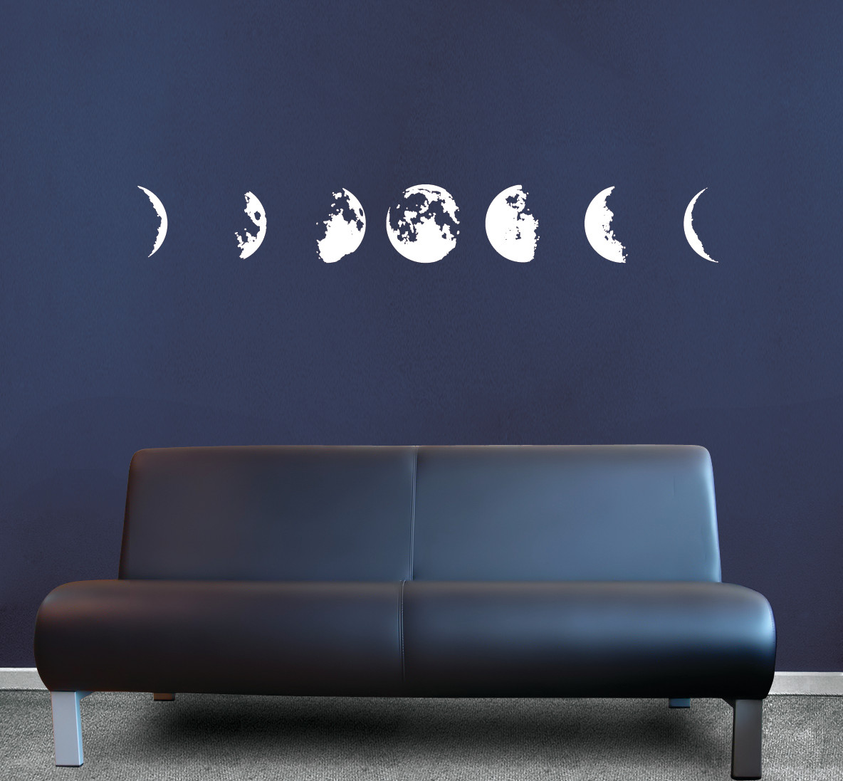 Phases Of The Moon Vinyl Decal Sticker Wall Art