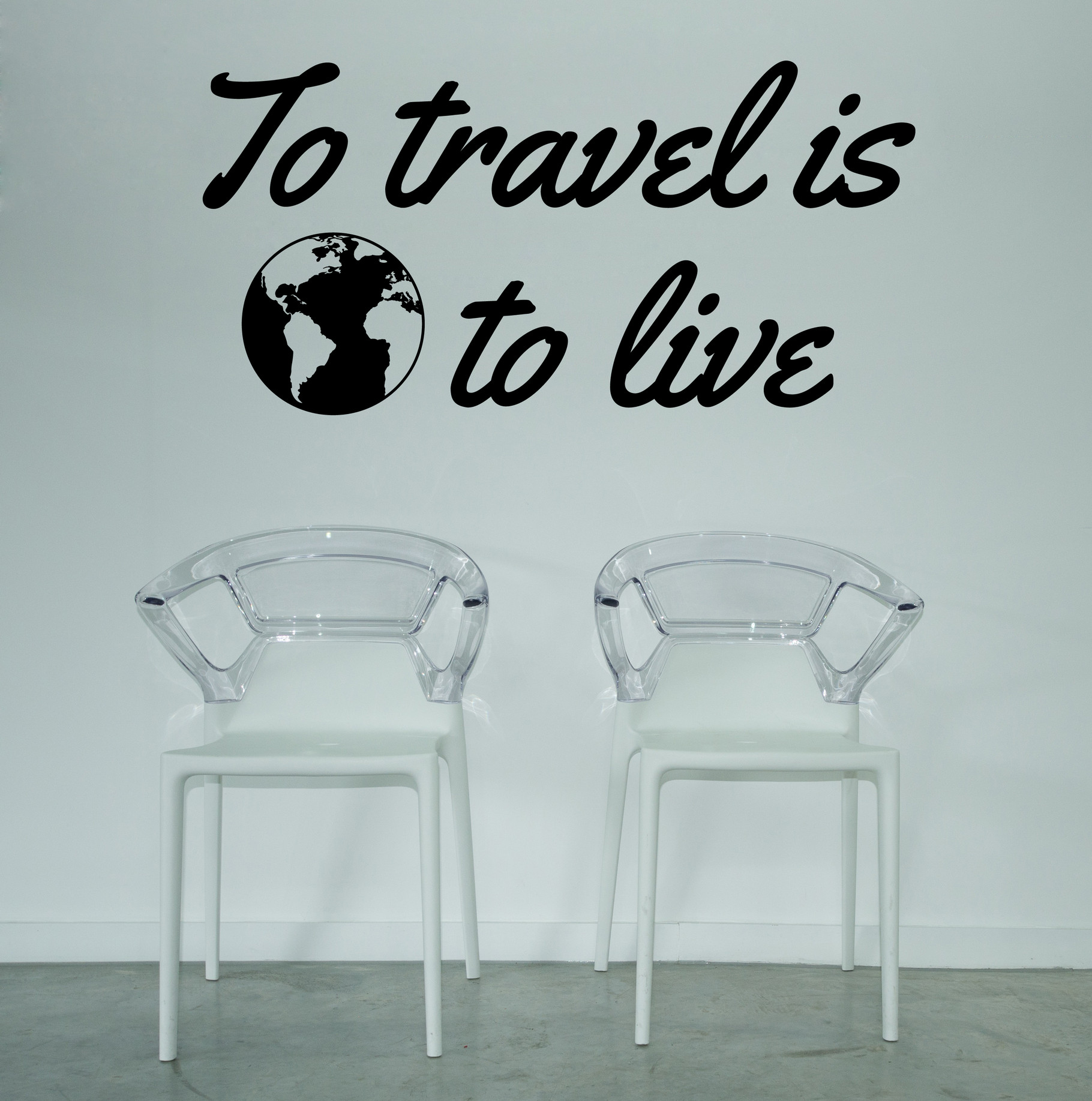 To Travel is to Live | Vinyl | Sticker - Wall Art Company