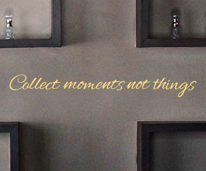 Collect Moments Not Things sticker