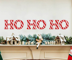 Ho Ho Ho wall art sticker