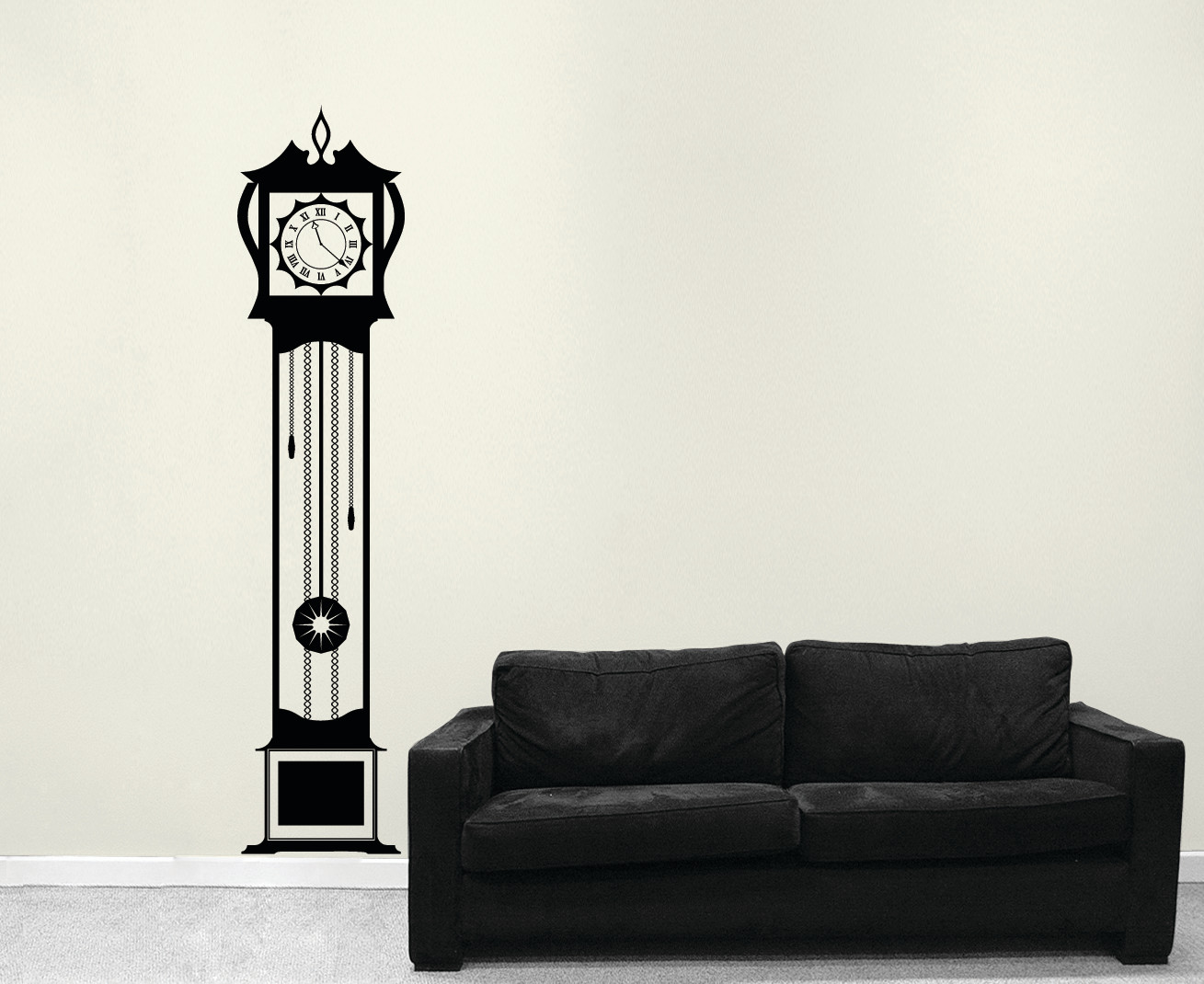 Grandfather Clock Vinyl Decal Sticker Wall Art Company