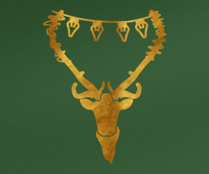 Reindeer with Lights wall art sticker