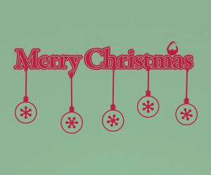 Merry Christmas Snowflake vinyl sticker