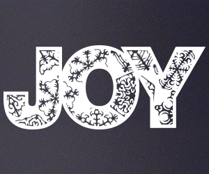 Joy vinyl sticker