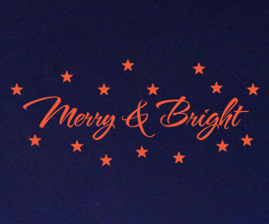 Merry & Bright vinyl sticker