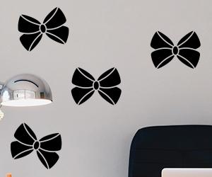 Joanne Ribbon Bows Wall Art Decals