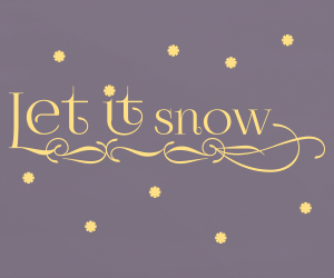 Let it snow vinyl sticker