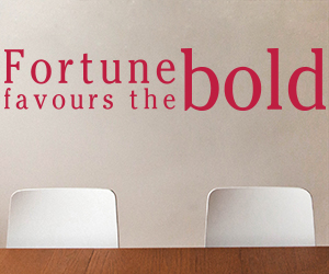 Fortune Favours The Bold sticker