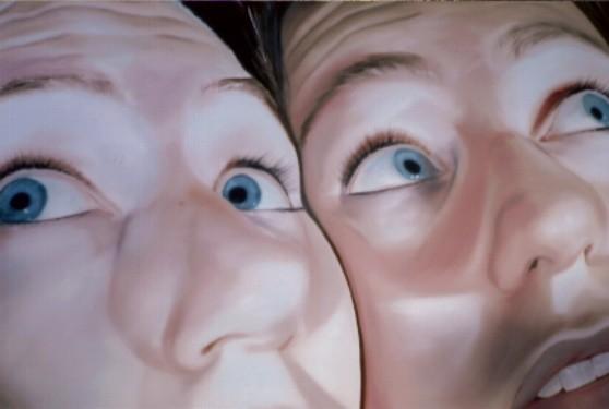 face2face_02   |   Öl auf Leinwand   |   60 x 90 cm   |   2004