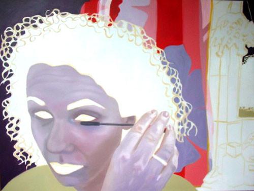 Maskerade_06   |   Eitempera/Öl auf Leinwand   |   90 x 120 cm   |   2004