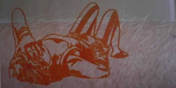 ruht sie ganz sanft   |   Edding auf Lambda-Print auf Aludibond   |   37,5 x 73,8 cm   |   2007