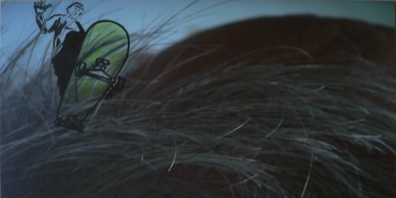 ein kühner jaegersmann   |   Edding auf Lambda-Print auf Aludibond   |   37,5 x 73,8 cm   |   2007