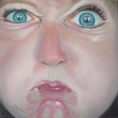 Grotesk_08   |   Öl auf Leinwand   |   30 x 30 cm   |   2002/2003