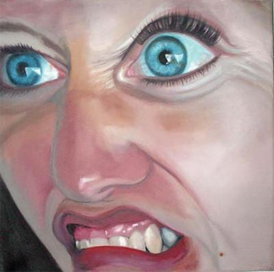 Grotesk_04   |   Öl auf Leinwand   |   30 x 30 cm   |   2002/2003