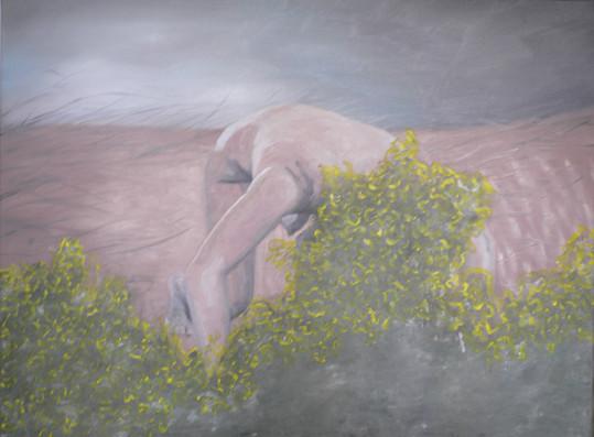 kopfueber_02   |   Öl auf Leinwand   |   90 x 120 cm   |   2009