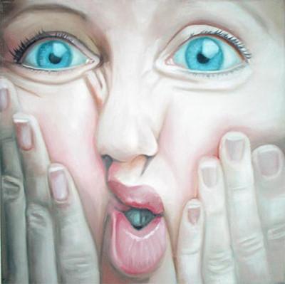 Grotesk_03   |   Öl auf Leinwand   |   30 x 30 cm   |   2002/2003