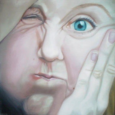 Grotesk_05   |   Öl auf Leinwand   |   30 x 30 cm   |   2002/2003