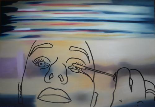 masquerade dreams   |   Öl/Lack auf Aluminium   |   90 x 130 cm   |   2006