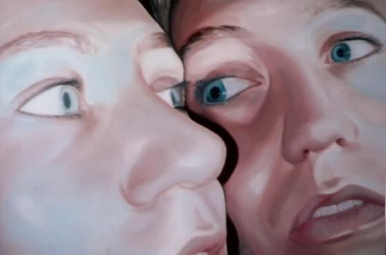 face2face_01   |   Öl auf Leinwand   |   60 x 90 cm   |   2004