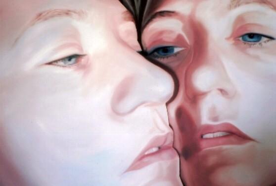 face2face_03   |   Öl auf Leinwand   |   60 x 90 cm   |   2005