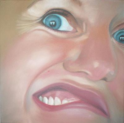 Grotesk_06   |   Öl auf Leinwand   |   30 x 30 cm   |   2002/2003