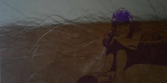 hat er's getan   |   Edding auf Lambda-Print auf  Aludibond   |   37,5 x 73,8 cm   |   2007