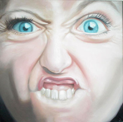 Grotesk_01   |   Öl auf Leinwand   |   30 x 30 cm   |   2002/2003