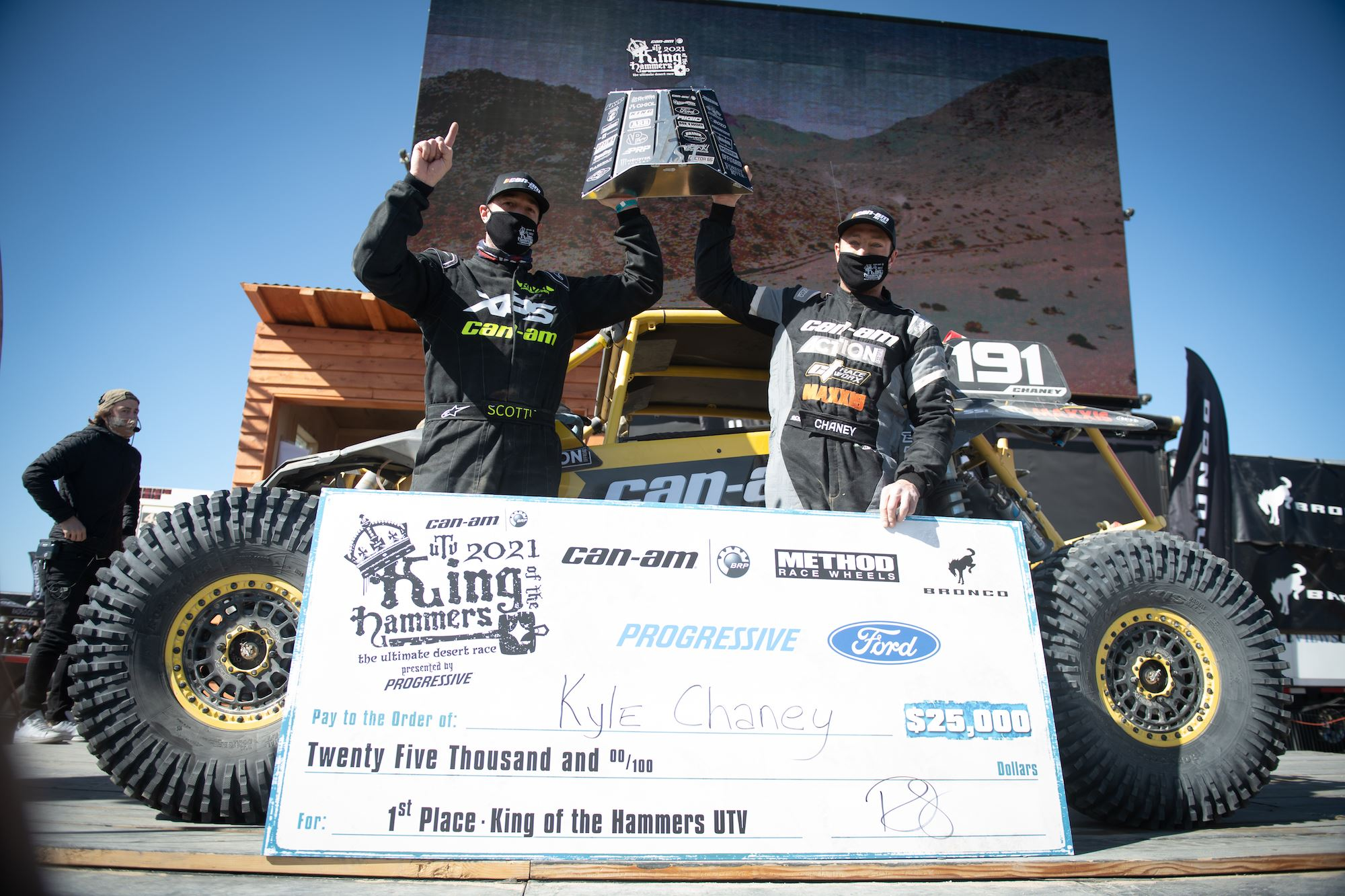 Kyle Chaney won the 2021 Can-Am UTV King of the Hammers Presented by Progressive