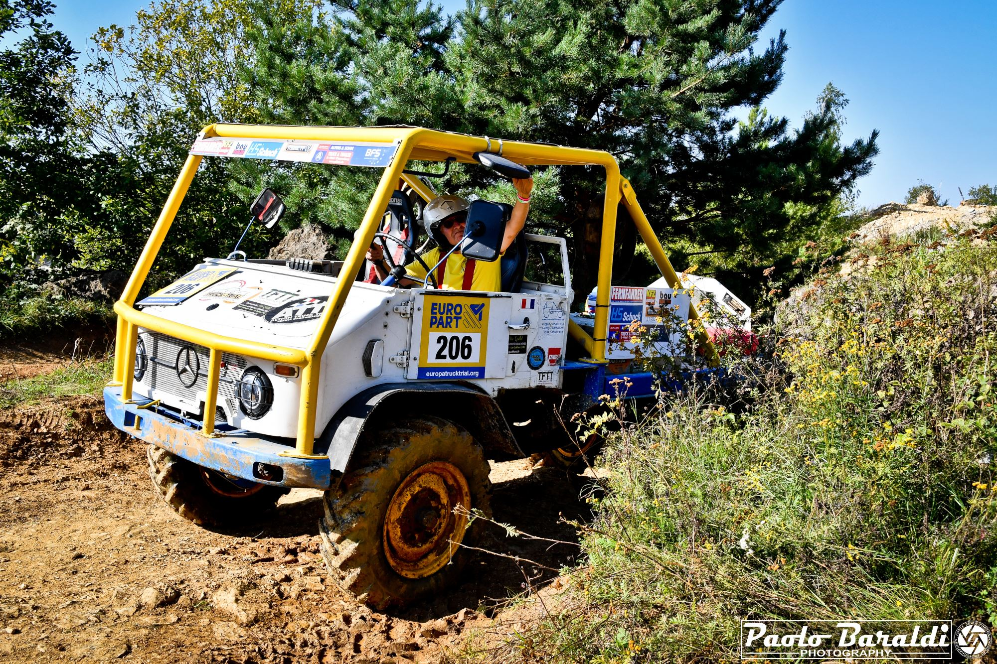 At the Europa Truck Trial in Langenaltheim (D) the first ever racing Unimog with electric retrofit