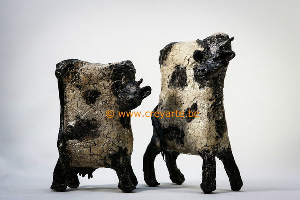 Black & White Cows - Powertex