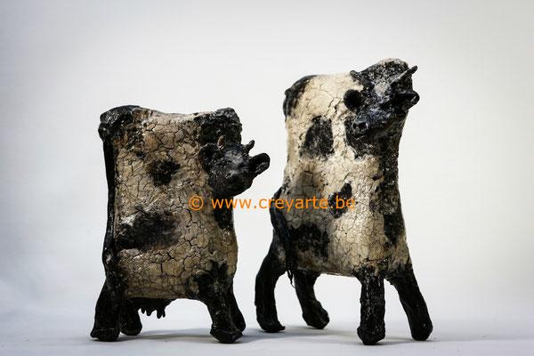 Black & White Cows - Powertex