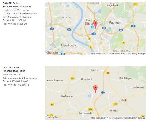 Rungis Express Standorte