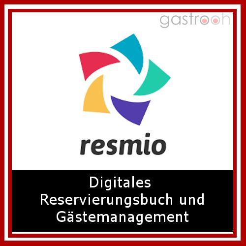 """Resmio- """"Reservierung online annehmen, bessere Beziehung zu Gästen aufbauen und Umsätze steigern mit einer einfachen Software!"""""""