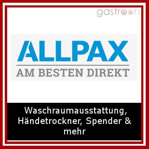 Allpax bietet Reinigungslösungen für die Gastronomie. Sie finden im Cash & Carry Markt wie auch im Online Shop Produkte für die Waschraumausstattung, Desinfektion, Händetrockner & Spültische.